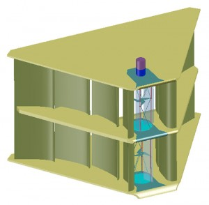 The modular design of an Oceanus unit (subject to ongoing refinement).